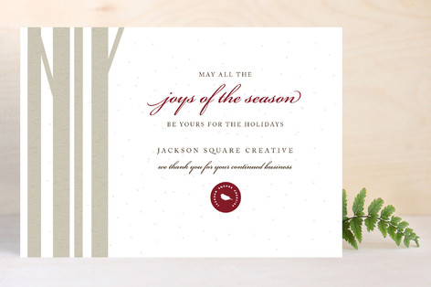 Winter Birch Business Holiday Cards