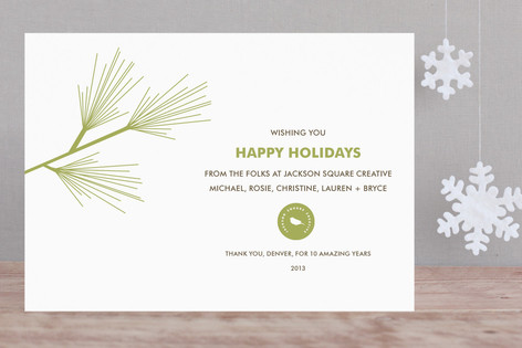 Pine Branch Business Holiday Cards