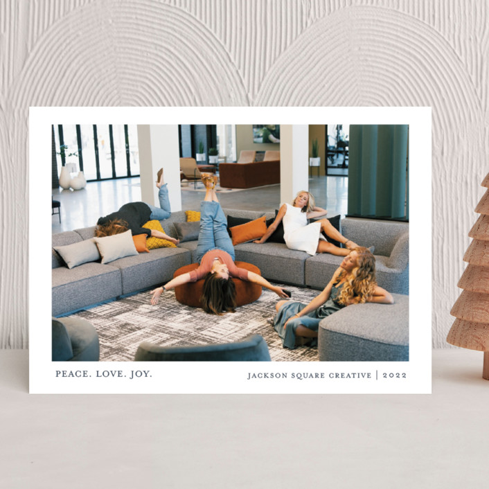 """""""Tiny Blessings"""" - Business Holiday Cards in Blueberry Pie by That Girl Press."""