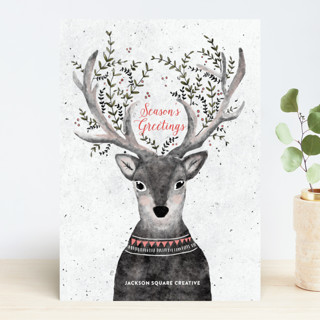 Reindeer Love Business Holiday Cards