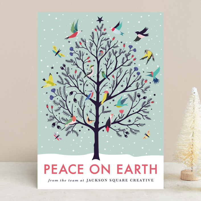 peace on earth business holiday cards by eve schultz minted
