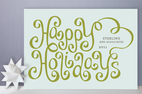 Merry Ribbon Business Holiday Cards