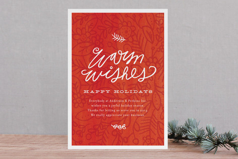 Evergreen Floral Business Holiday Cards