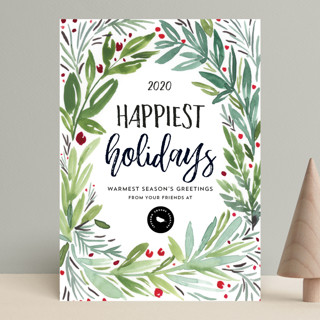 Mod Wreath Business Holiday Cards