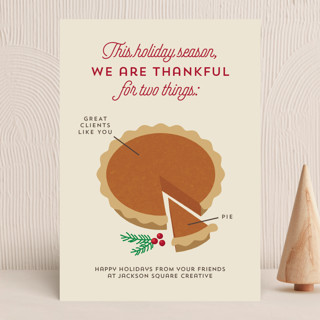 Pie Chart Business Holiday Cards