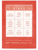 This is a orange business holiday card by Bethan called Bingo Time with standard printing on signature in standard.