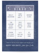 This is a blue business holiday card by Bethan called Bingo Time with standard printing on signature in standard.