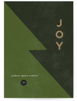 This is a green business holiday card by Anupama called Joy Tree with standard printing on signature in standard.