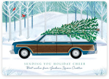 This is a blue business holiday card by Paper Sun Studio called Country Squire with standard printing on signature in standard.