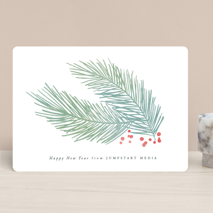 """""""Soft Pine"""" - Business Holiday Cards in Fir by Hooray Creative."""