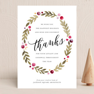 Leaf + Berries Business Holiday Cards