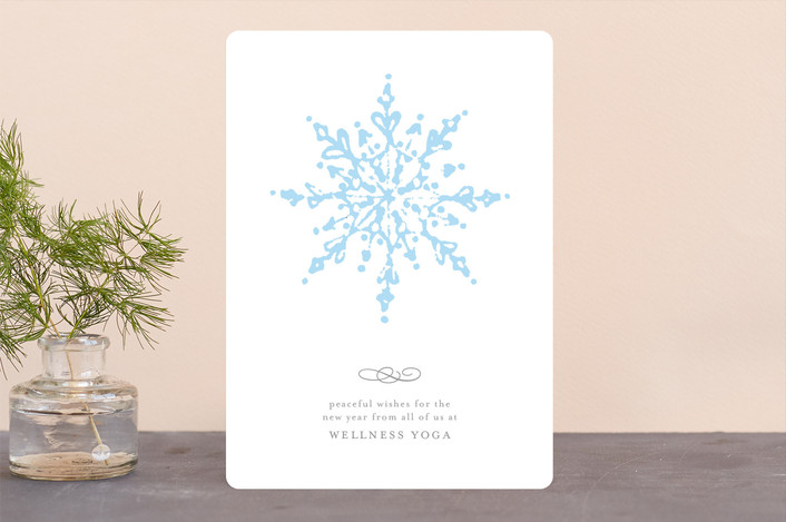 """""""mandala"""" - Business Holiday Cards in Snow by Julee London."""