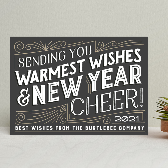 """""""Vintage Shine"""" - Vintage Business Holiday Cards in Tuxedo by Jessie Steury."""