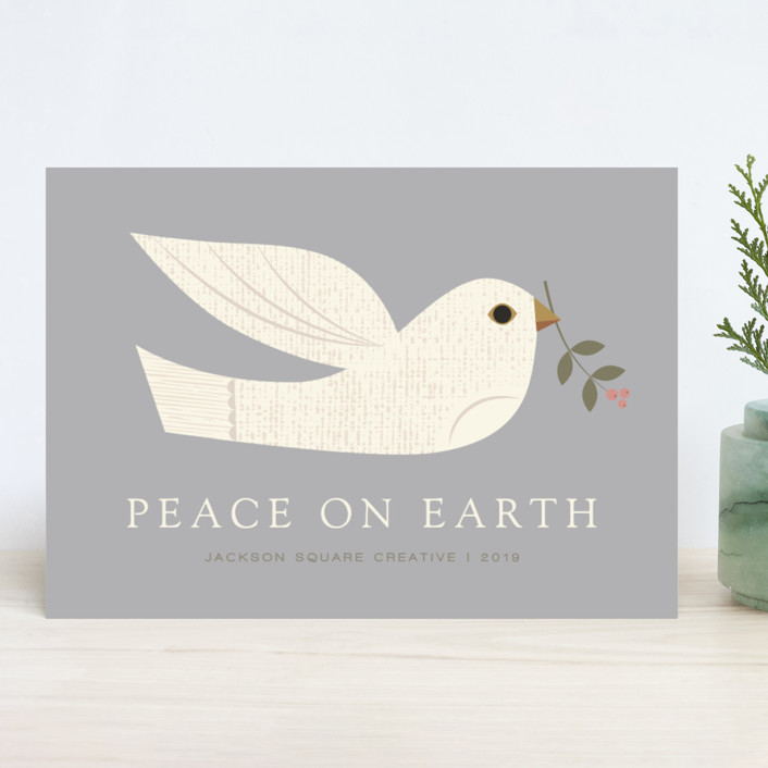 """""""textured dove"""" - Business Holiday Cards in Mist by Shannon Hays."""