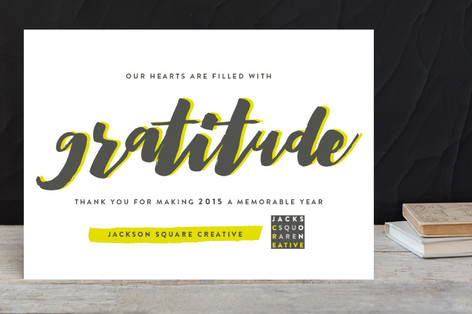 Swell of gratitude business holiday cards by snow minted swell of gratitude business holiday cards colourmoves