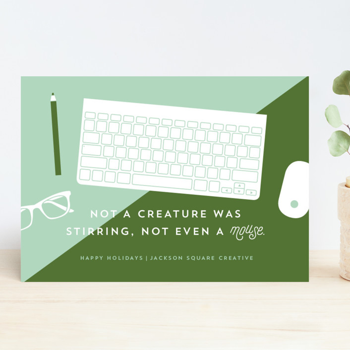"""Tools Of The Trade"" - Modern Business Holiday Cards in Mint by Cheer Up Press."