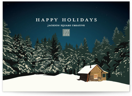 Cozy Cottage Business Holiday Cards