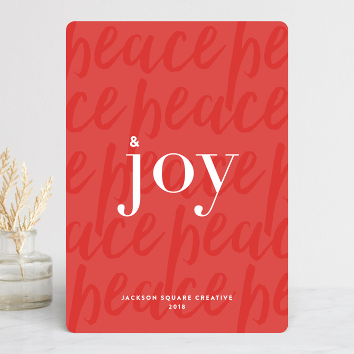 """& Joy"" - Business Holiday Cards in Ruby by Lauren Chism."