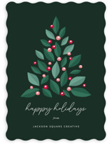 This is a green business holiday card by Sharon O. called Grow & Prosper with standard printing on signature in standard.
