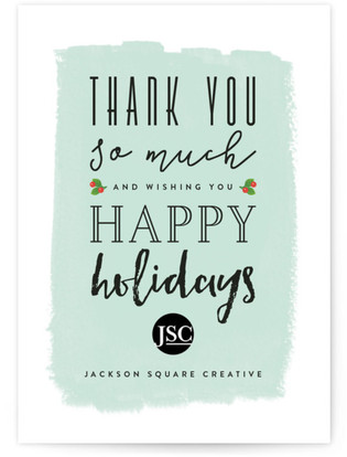 Giving thanks business holiday cards colourmoves
