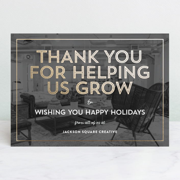 """""""Big Thank You"""" - Business Holiday Cards in City Lights by Cass Loh."""