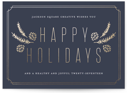 Holiday Framework Business Holiday Cards