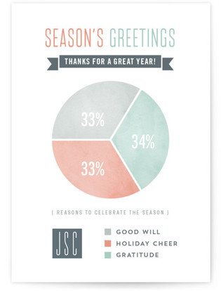 Holiday Pie Chart Business Holiday Cards