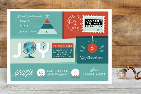 Infographic joy business holiday cards
