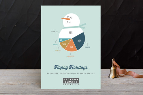 Snowman pie chart business holiday cards by chelse minted snowman pie chart business holiday cards reheart Images
