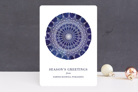 Bohemian Snowflake Business Holiday Cards