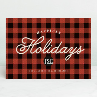 Classic Buffalo Plaid Business Holiday Cards