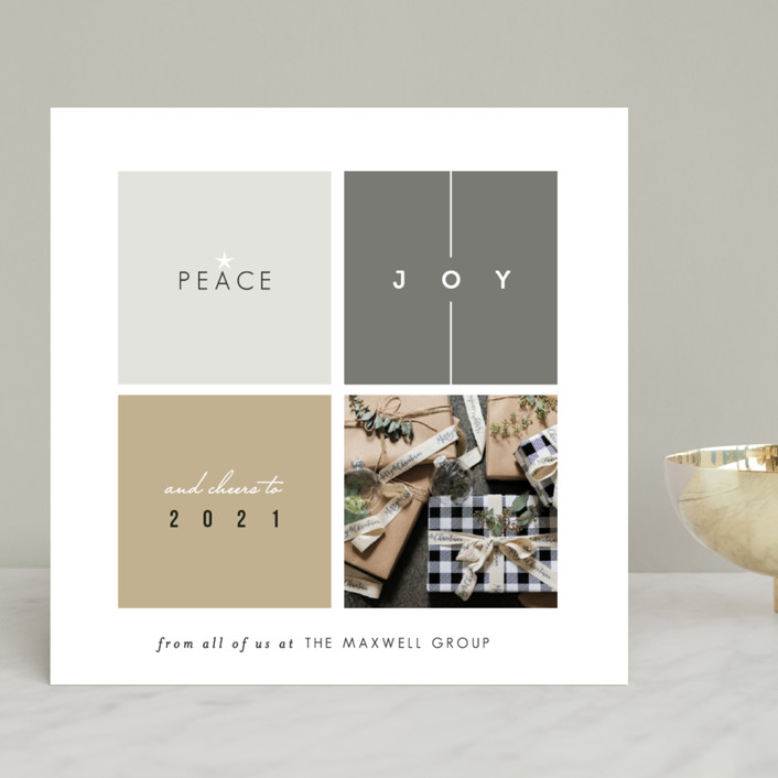 """Building Blocks"" - Business Holiday Cards in Brass by fatfatin."