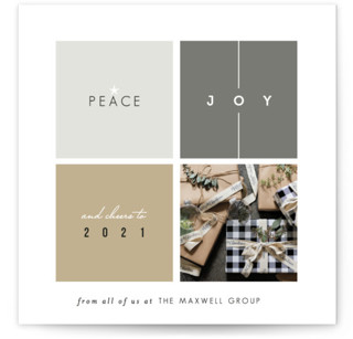 Building Blocks Business Holiday Cards