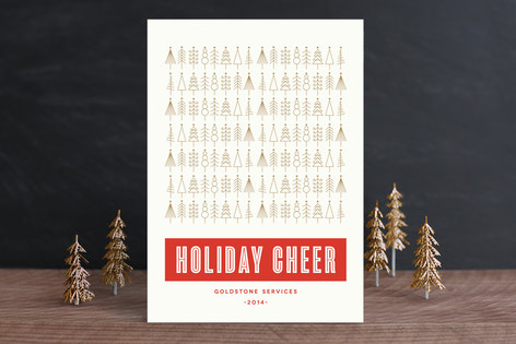 Golden Christmas Business Holiday Cards