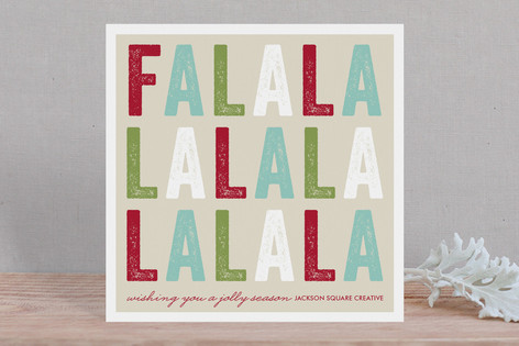 Jolly Fa La La Business Holiday Cards