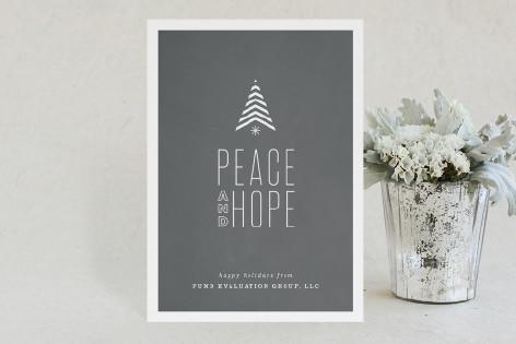 Hopeful Stripe Business Holiday Cards