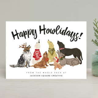 Howliday Dog Pack Business Holiday Cards
