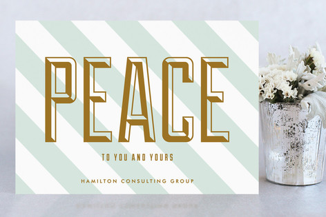 Peace to You and Yours Business Holiday Cards