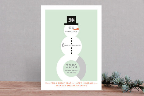 Snowfographic Business Holiday Cards