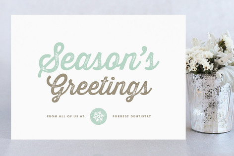 Snow Covered Business Holiday Cards