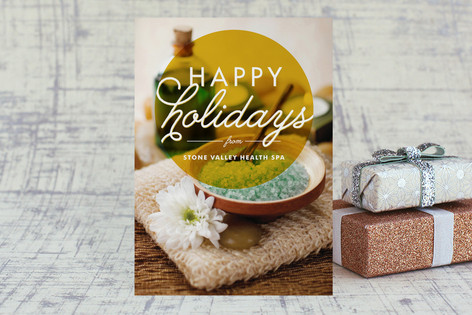 Simply Modern Business Holiday Cards