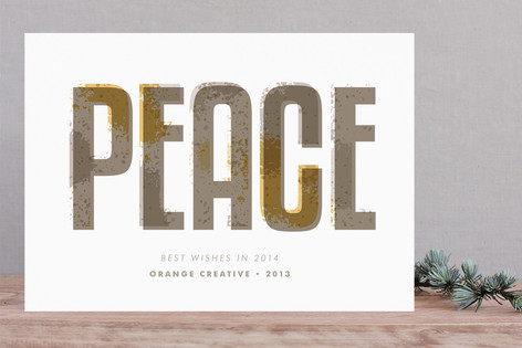 Textured Offset Business Holiday Cards