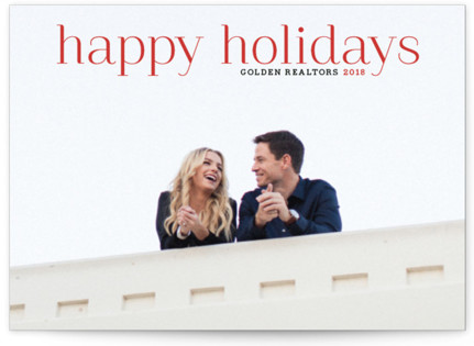 Timeless Greeting Business Holiday Cards