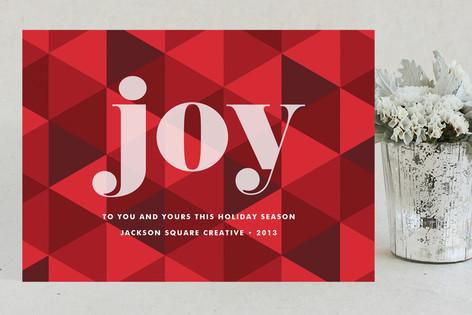 Joy Geometric Business Holiday Cards