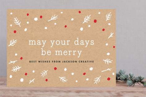 Kraft & Berry Business Holiday Cards