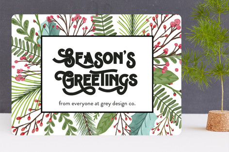 Seasons Greetings Business Holiday Cards