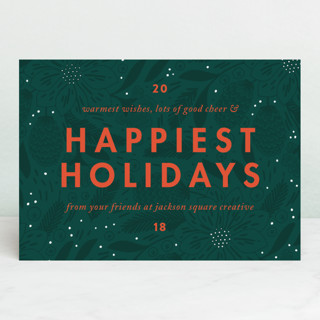 Color Pop Business Holiday Cards