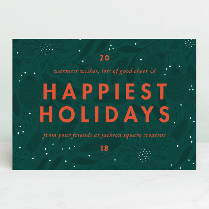 """""""Color Pop"""" - Business Holiday Cards in Pine by Paper Raven Co.."""