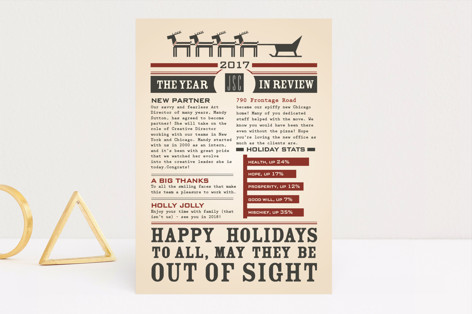 Reindeer Press Business Holiday Cards