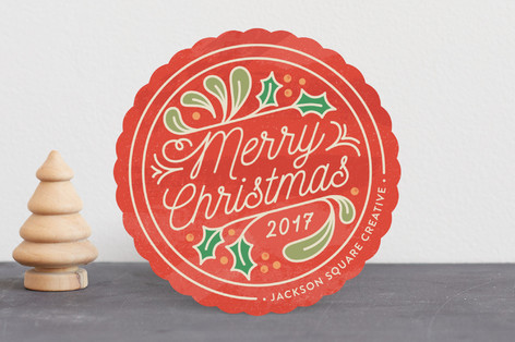 Merry Medallion Business Holiday Cards